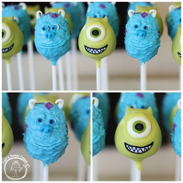 Monsters, Inc. Cake Pops