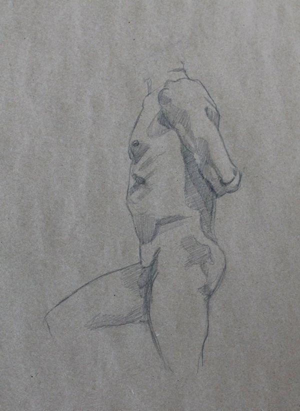 life drawing of man - Sandrine Pelissier