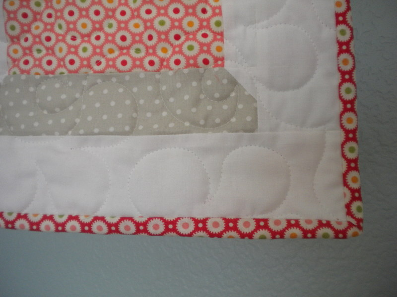 Quilt Corner Finished with Patterned Binding