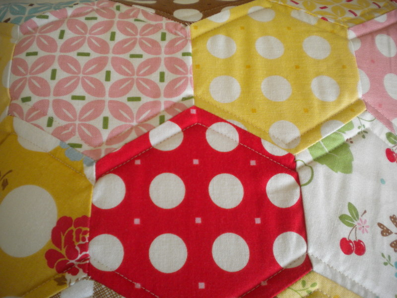 Geometric Patterned Quilt Blocks Sewn with Y-Seams