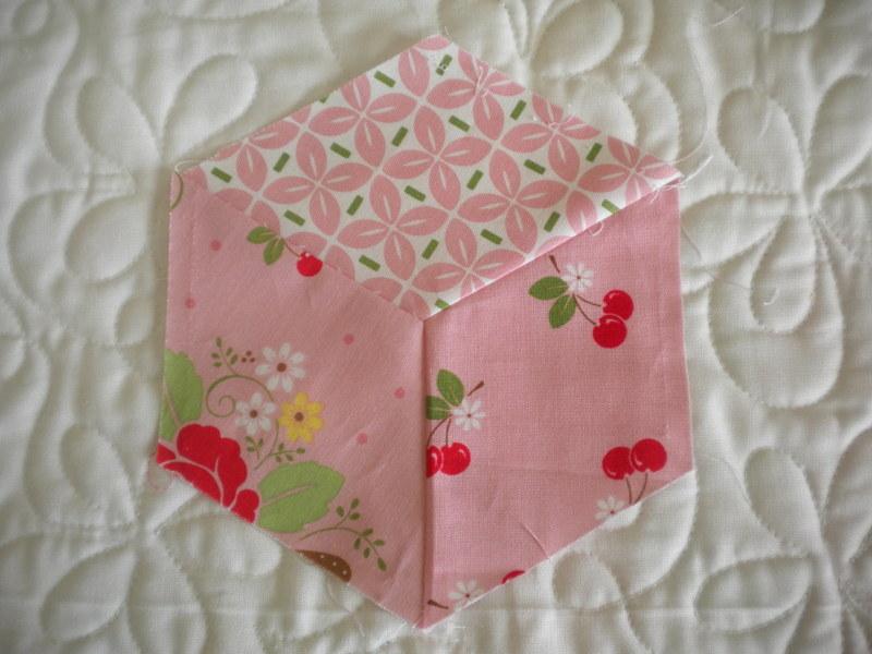 Pink Hexagon Quilt Block