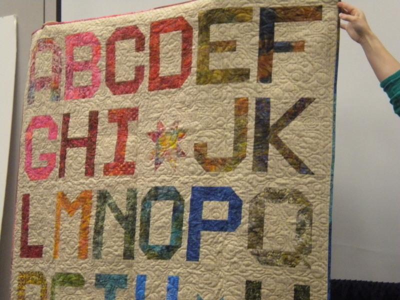 Alphabet Quilt at the International Quilt Market Fall 2013