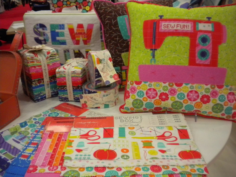 Sewing Box Fabric and Creations by Gina Martin for Moda