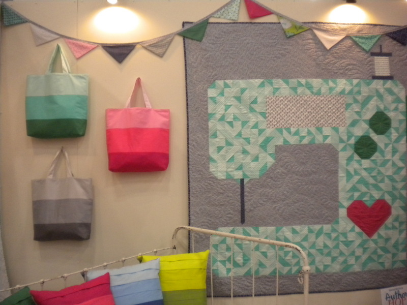 Bags and Sewing Machine Quilt at International Quilt Market Fall 2013