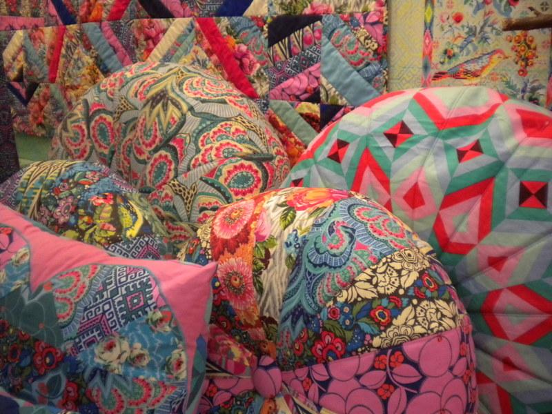 Quilted Pillows at International Quilt Market 2013