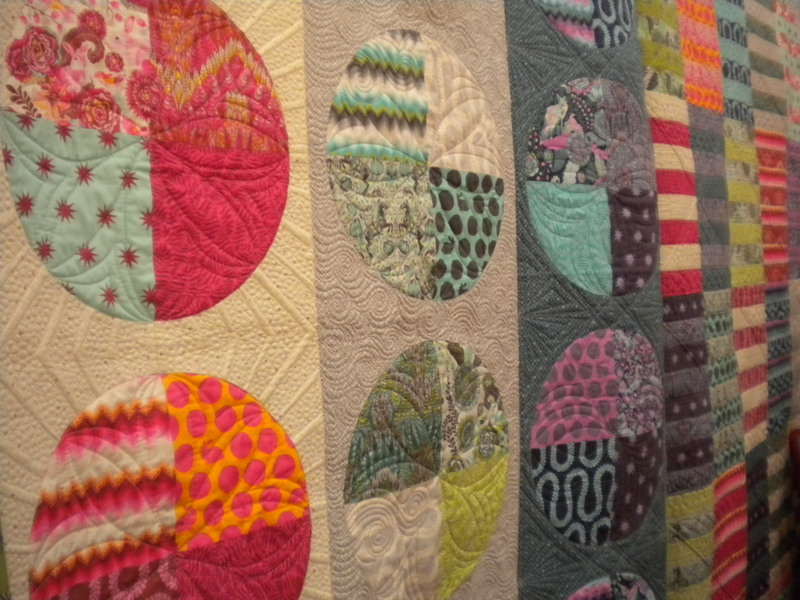 Tula Pink Quilt Featuring Circular Designs