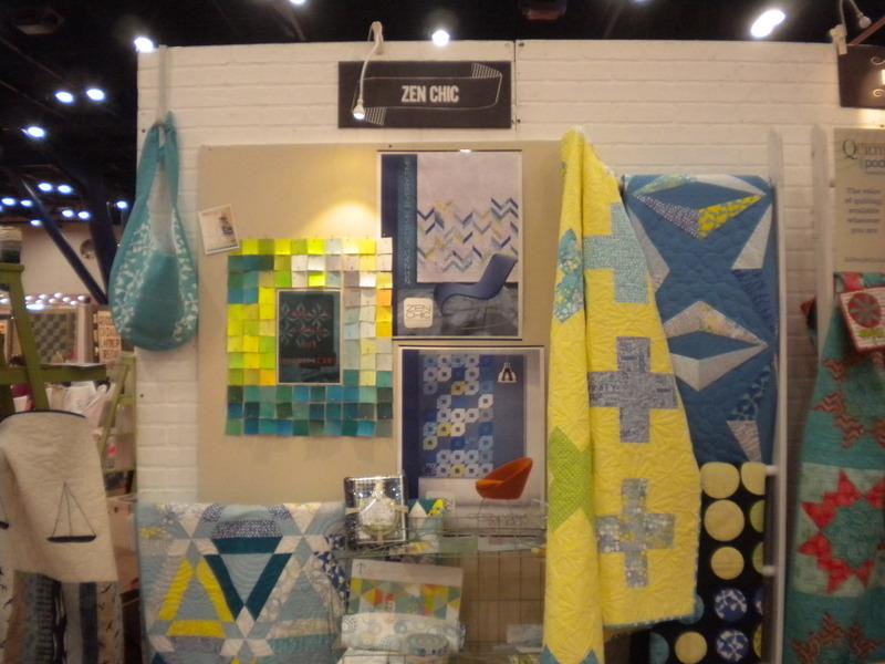 Zen Chic Booth, International Quilt Market Houston 2013