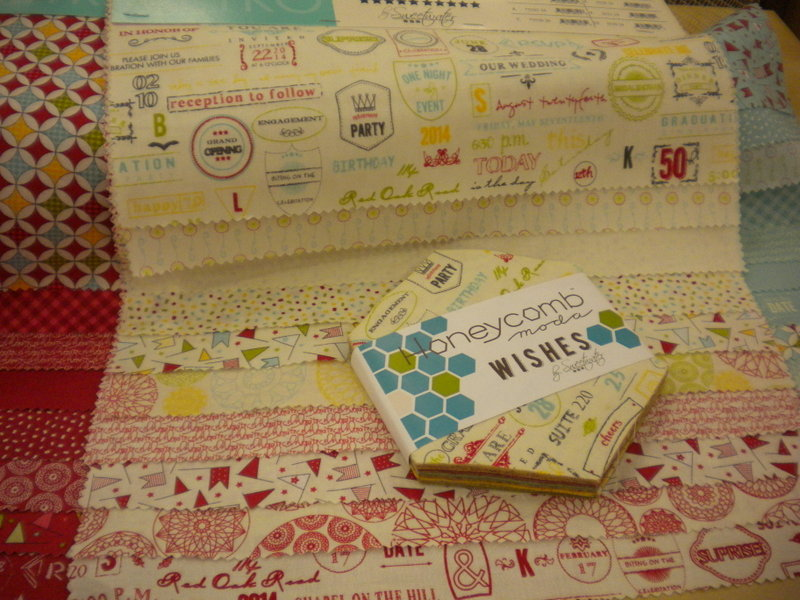 Patterned Fabric Samples: Sweetwater's Wishes Collection for Moda Fabrics