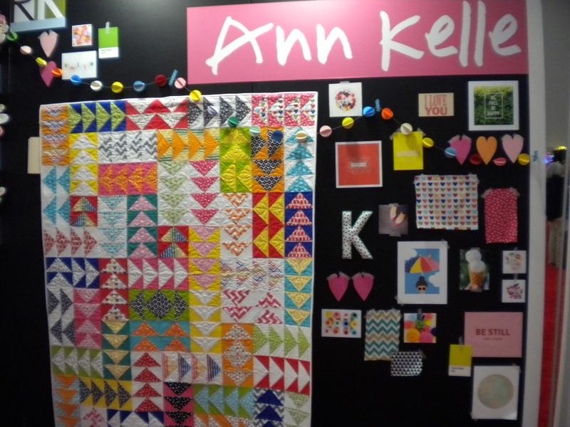 Flying Geese Quilt on Anne Kelle Display Board