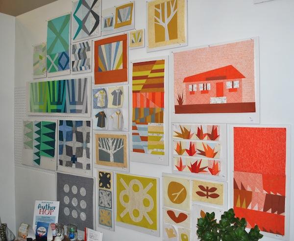 Bold Quilt Blocks on Display