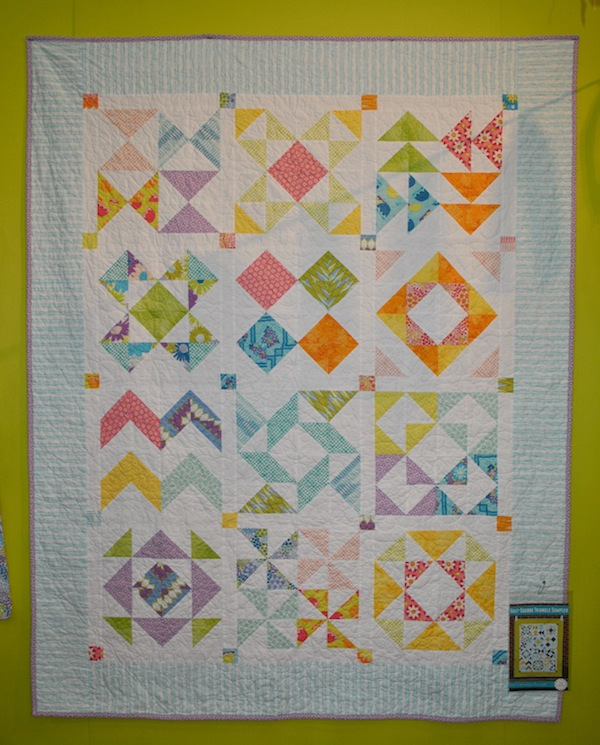 Colorful, Multi-Patterned Quilt at International Quilt Market