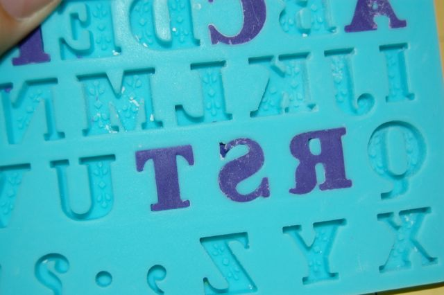 Fondant in Alphabet Mold