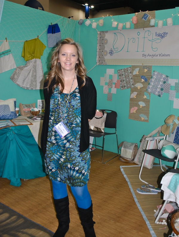 Fabric Designer in Booth
