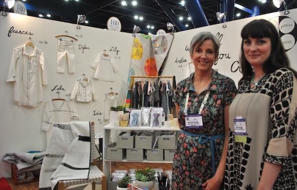 Michelle and Alexa Abegg at International Quilt Market