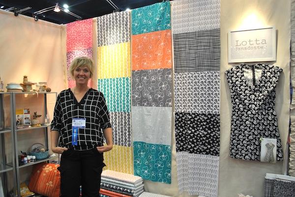 Lotta Jansdotter: Mormor & Sylvia Booth at International Quilt Market