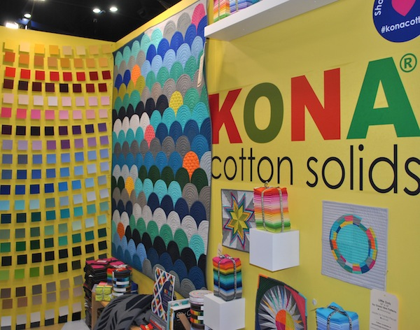 Quilts in Robert Kaufman: Kona Cotton Solids Booth