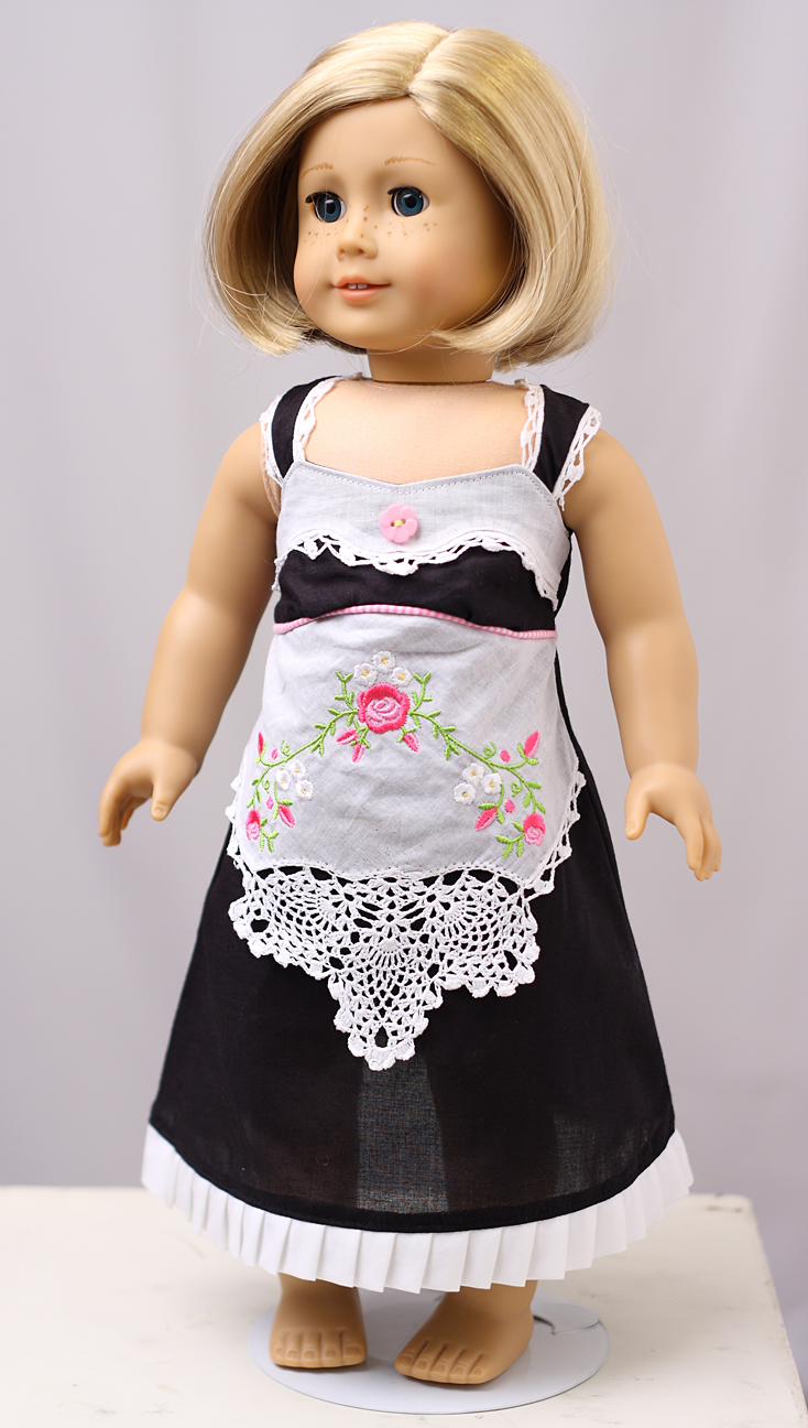 Handkerchief Crafts for Doll: Embroidered Doll Apron