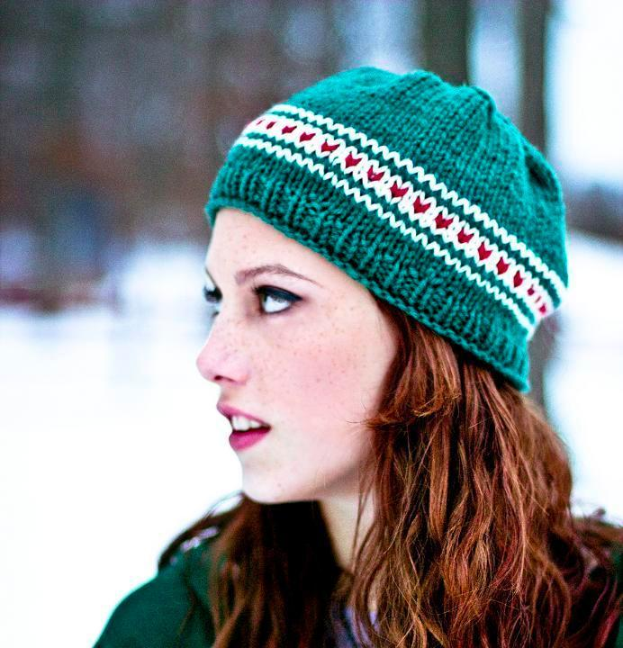 Redheaded Woman Wearing Green Hat