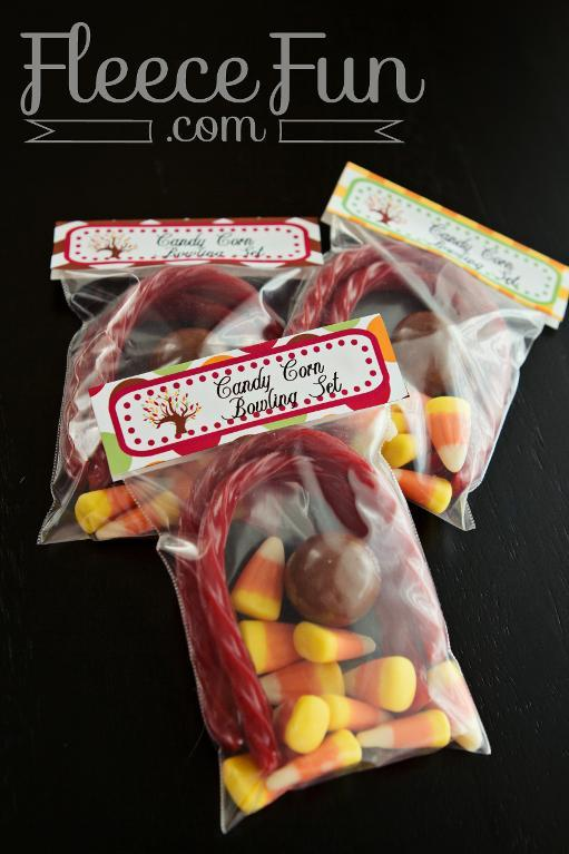 Labeled Bags of Halloween Candy