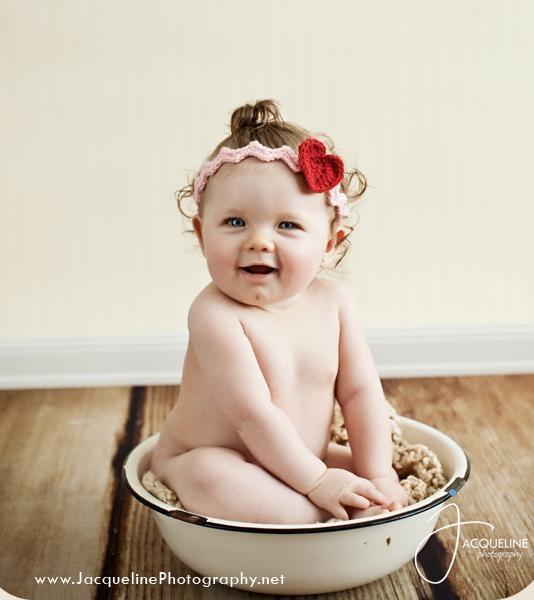 Little Baby Wearing Knit Headband, on Bluprint