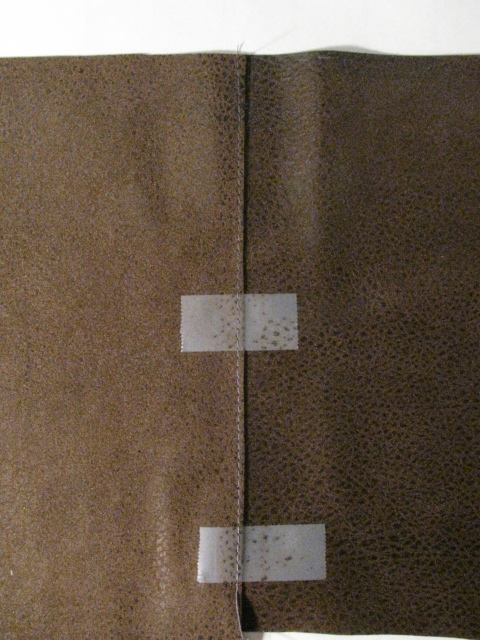 Taped Seam in Leather Pieces