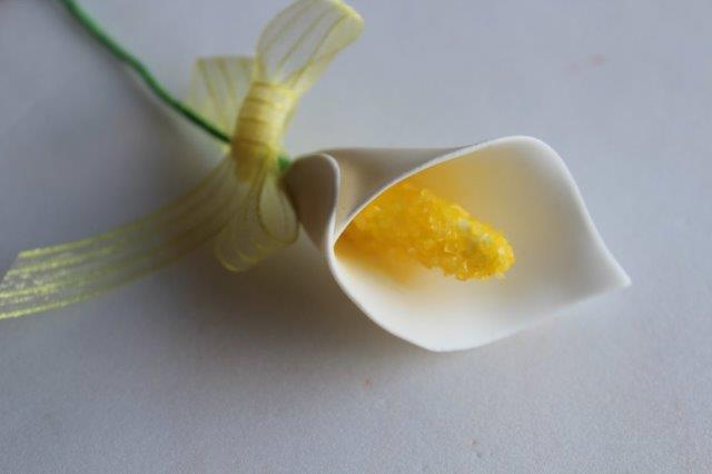sugar paste calla lily