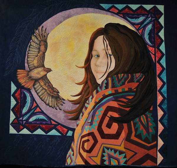 Quilt Featuring Woman and Eagle