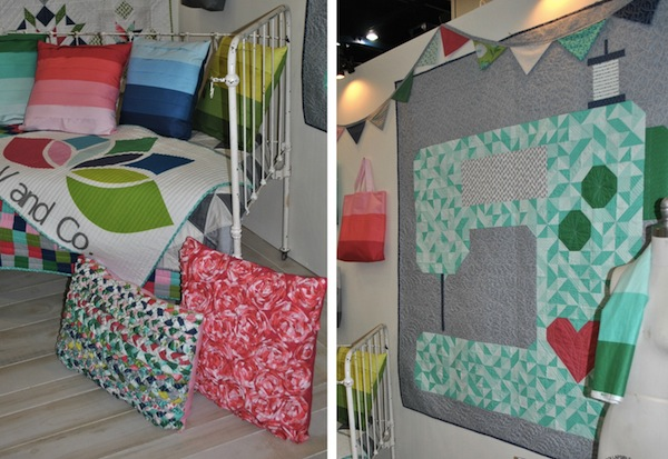 Sewing Machine Quilt, Quilted Pillows