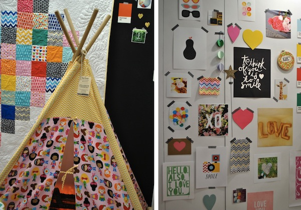 Teepee and Quilt Blocks at Remix Booth
