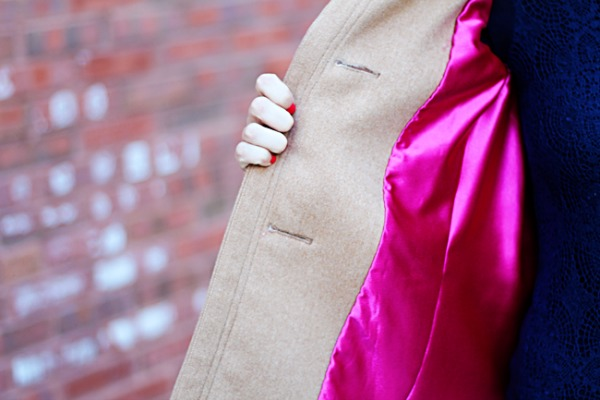Pink lined coat
