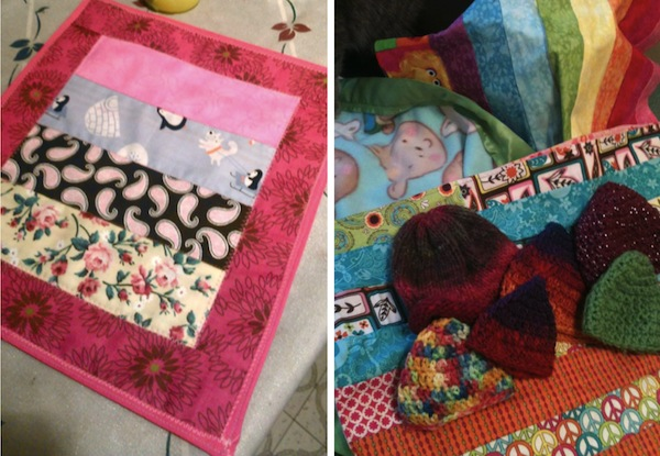 Collage of Quilting and Knitting Projects