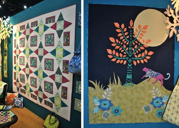 Two Quilts on Display at International Quilt Market 2013