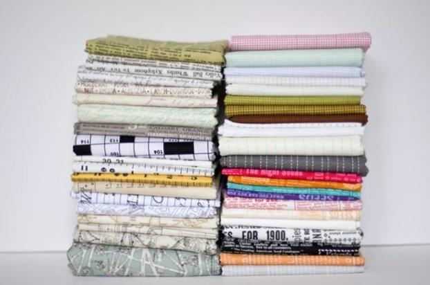2 Stacks of Fabric