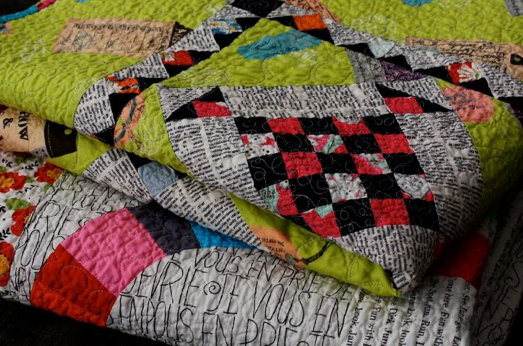 Two Quilts Folded and Stacked