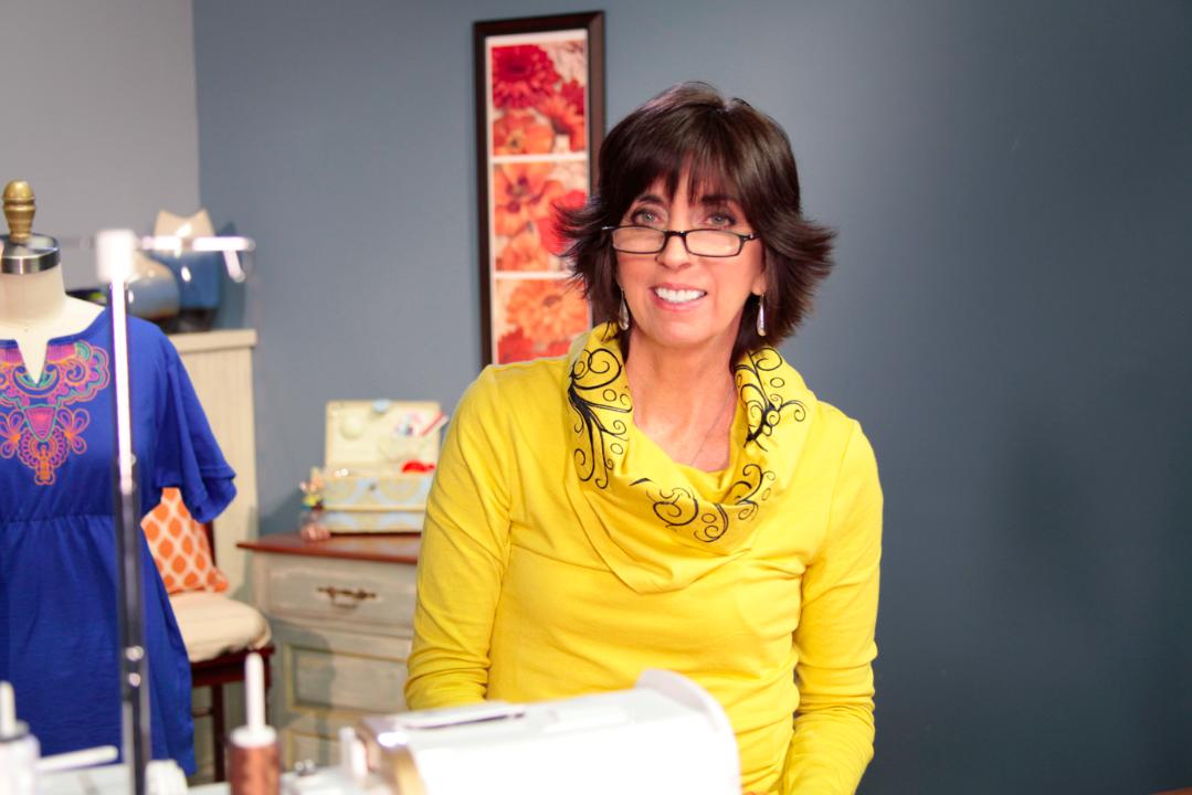 Eileen Roche Smiling in Studio