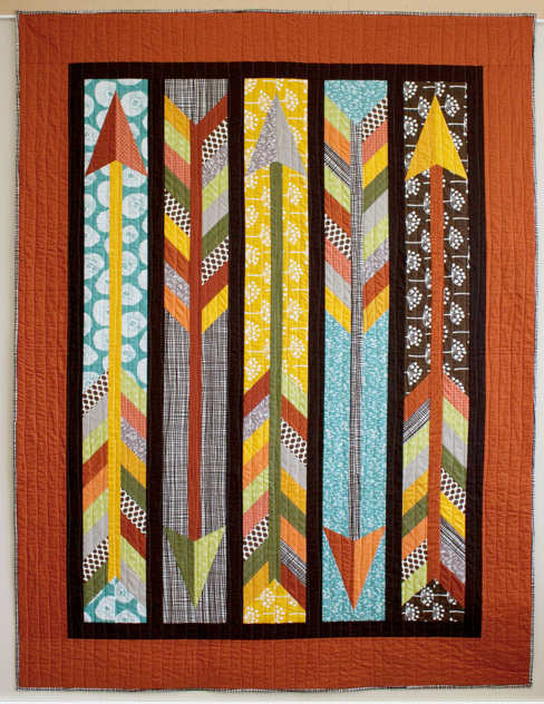 Quilt Featuring Arrows on Various Backgrounds