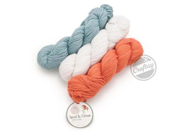Three Colors of Spud Yarn