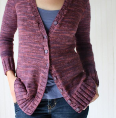 Purple and Pink Division Cardigan