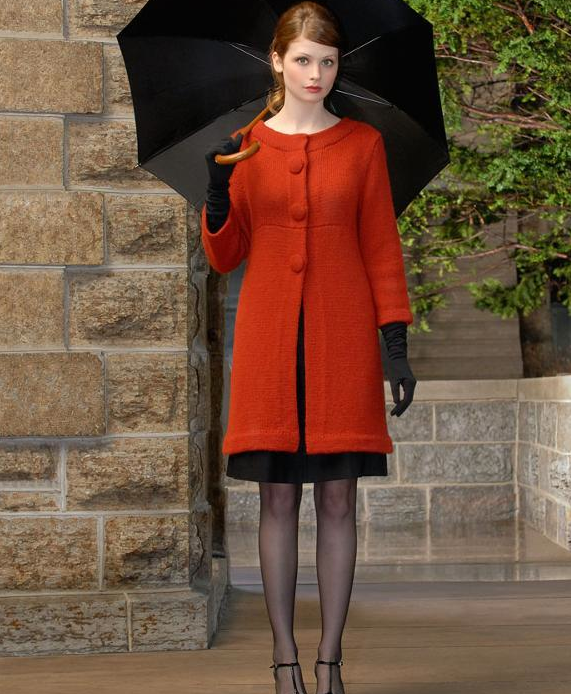 Red Audrey Coat