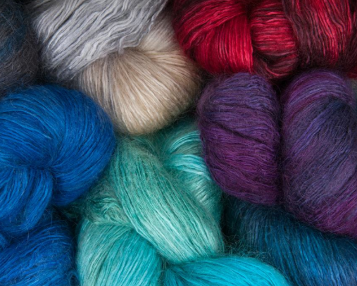 Various-Colored Iridescent Rhapsody Yarn