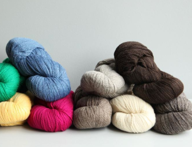 Skeins of Different Colored Eco Yarn