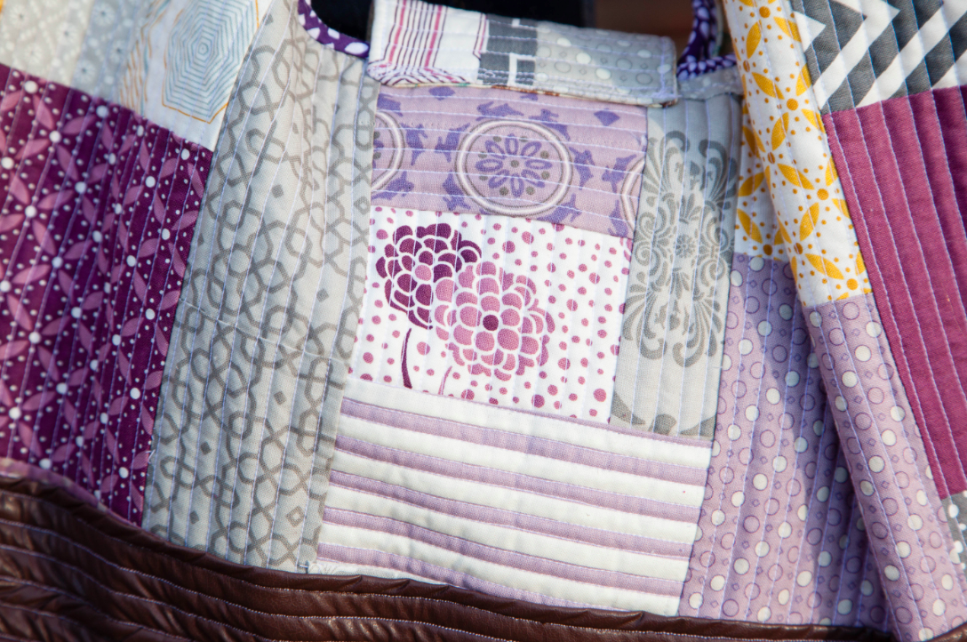 Close Up on Patchwork Bag, on Bluprint