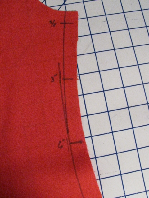 Marking Seam on Garment