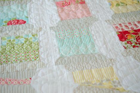 Quilt with Symmetrical Offset Design