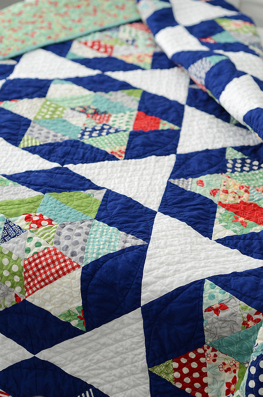 Star Patterned Quilt by Bluprint Instructor Camille Roskelley