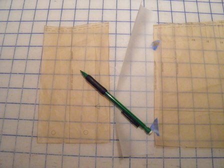 Tissue taped to one side for lengthening pattern
