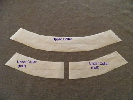 Under collar cut in half