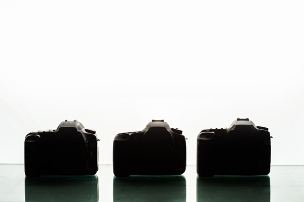 3 Camera Silhouettes