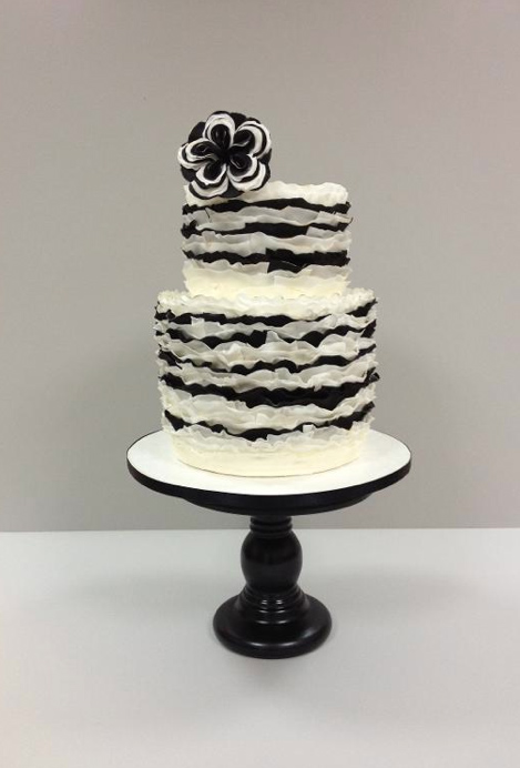 Frilled Black and White Cake, on Bluprint