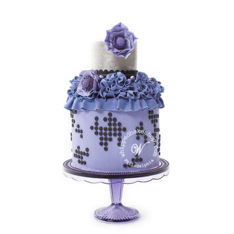 Wedding Cake with Blue Frills
